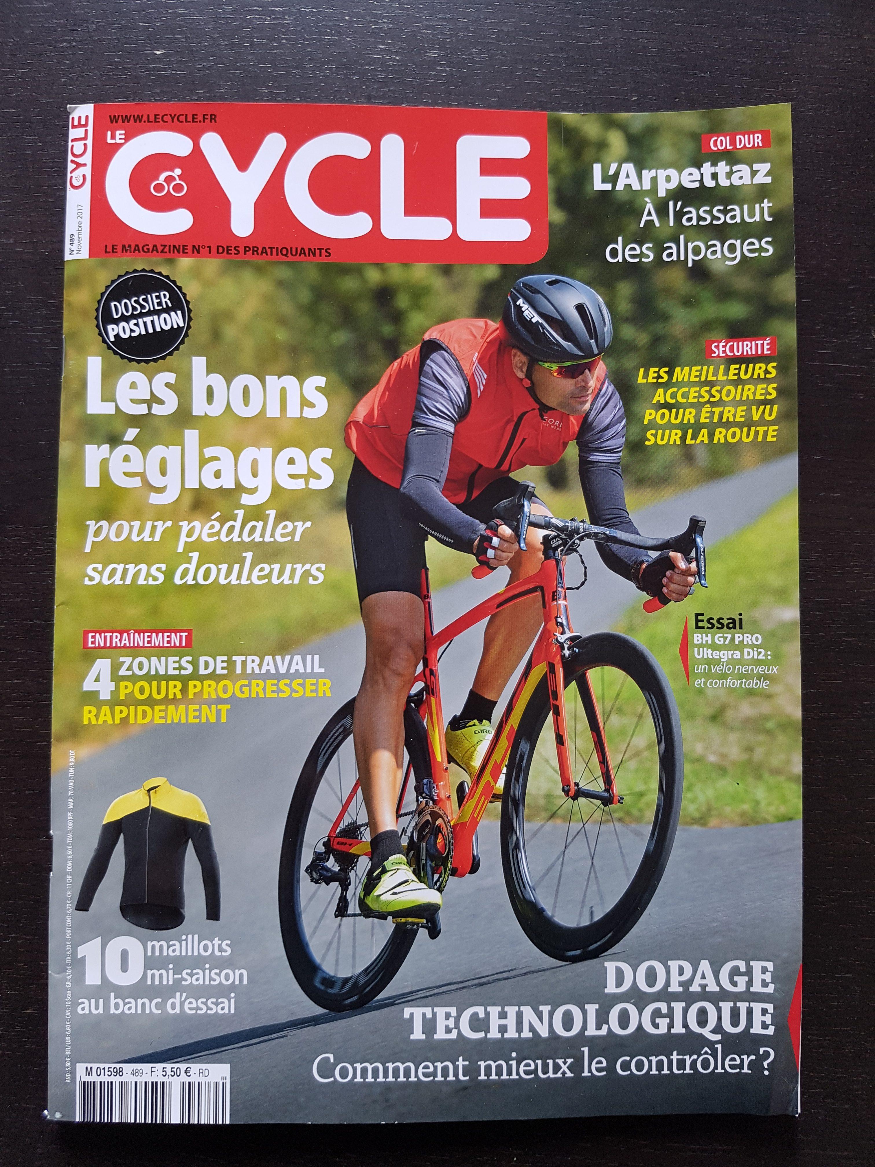 on parle de nous dans le magazine le cycle n 489 tac cyclo les trois cols. Black Bedroom Furniture Sets. Home Design Ideas