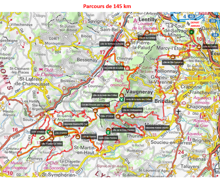 Grand Parcours 145 km 2020